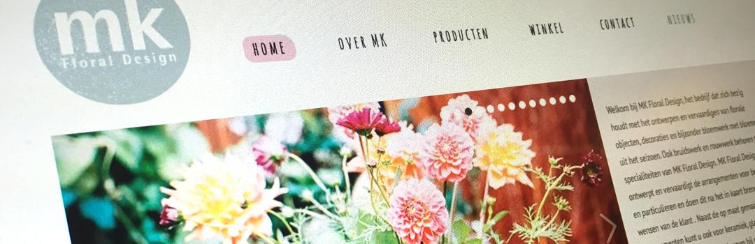 Nieuwe website voor MK Floral Design